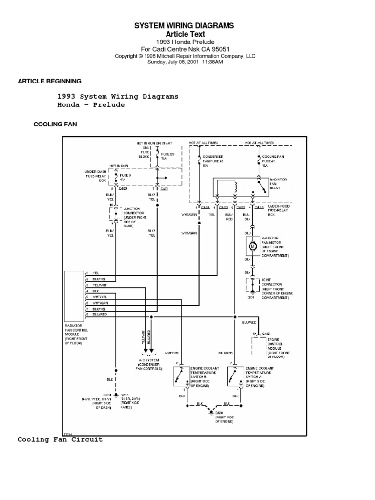 1993 miata wiring diagram honda prelude iv  92 96  system wiring diagrams  honda prelude iv  92 96  system