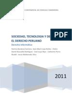 Sociedad, Tecnologia y Derecho - Derecho Peruano