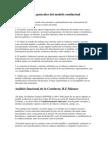 Características generales del modelo conductual