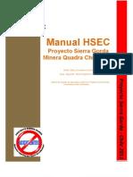 Manual Hsec Rev 0, Proyecto Sg Enero 2011