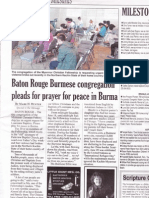 Baton Rouge Burmese congregation pleads for prayer for peace in Burma