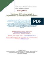 FERNÁNDEZ RIPOLL, Néstor D. (2011) Software ERP, Cómo elegir e implementar el mejor para su empresa