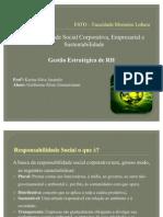 Responsabilidade Social Corporativa rial e Sustentabilidade
