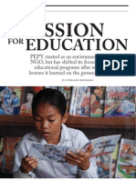 A Passion for Education - Humaneity, May 2011