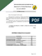 5º Ano Guião do aluno - Currículo, critérios de avaliação, perfil do aluno