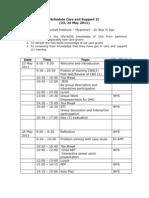 schedule _C&S_II_(23_24_May_2011)