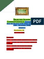 Volume 2 of Selected Islamic Correspondence
