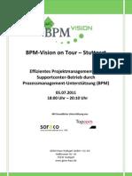 BPM Vision Roadshow Tischvorlage Agenda