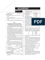 Accountancy Model Questions