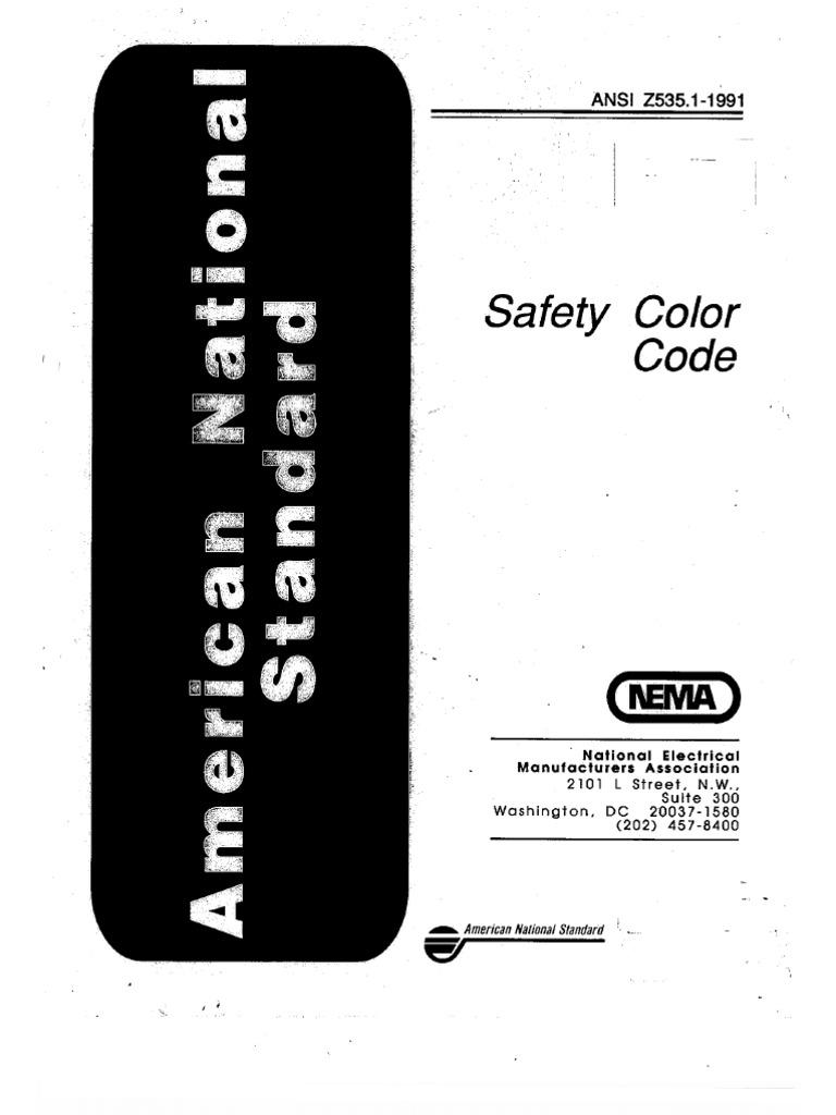 Ansi z535 1991 safety color code nvjuhfo Choice Image