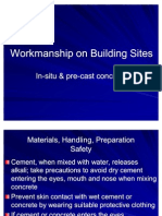 Workmanship on Building Sites