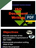 ISO Document Writing Training