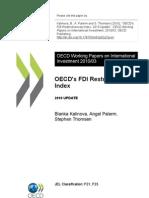 FDI Restrictiveness Index 2010