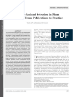 Xu and Crouch Marker-Assisted Selection in Plant Mas 2009