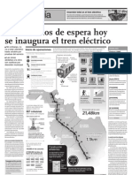 Tras 25 años de espera hoy se inaugura el tren eléctrico