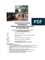 Community Economic Development - CDAE 326 Z1 - Course Syllabus or Other Course-Related Document
