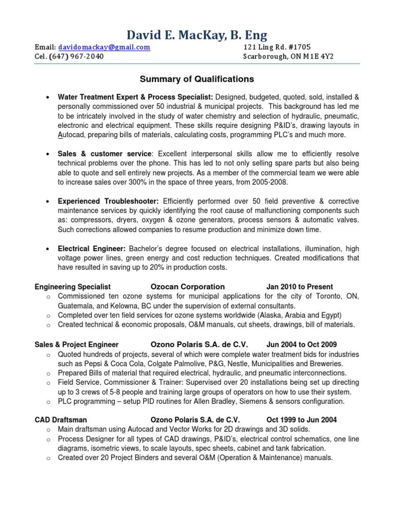 Resume David Mackay 110701 Technical Drawing Ozone Electrical Engineering Diagram Create An
