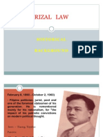 Process of Rizal Law
