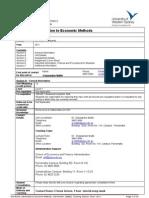 200052 - Introduction to Economic Methods