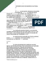 Modelo Informe Socio Económico para escuelas d e gestión oficial-DGCE