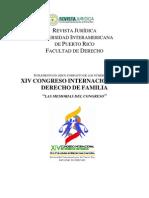 Revista Xiv Congreso Internacional de Derecho de Familia