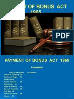 Payment of Bonus Act 19651