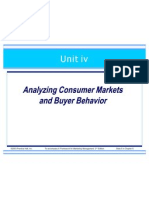 Consumer Markets Buyer Behavior