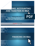 Financing, Accounting and Taxation on Merger and Acquisition