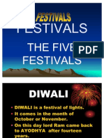 Differents Festivals  PPT
