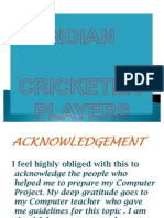 Indian Crickter Players
