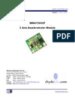 MMA 7260 3 Axis Accelerometer-User Manual