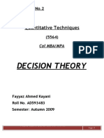 52310542 Decision Theory
