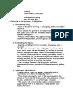 Rules on Legislative Drafting