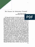 Hans-Georg Gadamer - Los límites de la razón histórica