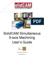 SolidCAM 5 Axis User Guide Screen