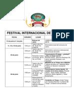 Programacion Festival Internacional Tango