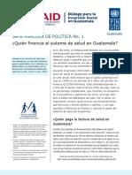¿Quién financia el sistema de salud en Guatemala?
