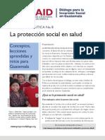 La protección social en salud