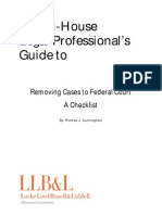 The in House Legal Professional s Guide to Removing Cases to Federal Court