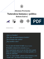 CHV 005 T Naturaleza Humana y Politica