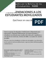 Instructivo RADDE Recomendaciones a los estudiantes movilizados