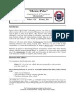126 Obstruct Police PKG