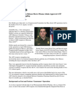 DOJ News Release Shows Obama Admin Approved ATF Mexico Weapons Smuggling