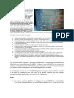 Condiciones para la construcción de una pared