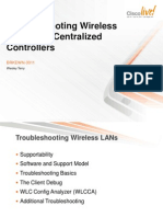 Troubleshooting Wireless LANs with Centralized Controllers