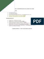 Metodo Para La Determinacion de Acidez en Leche