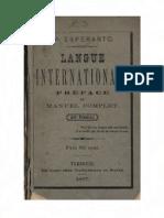 Dr Esperanto Langue Internationale préface et manuel complet (por francoj)