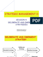 Deliberate and Emergent Strategy