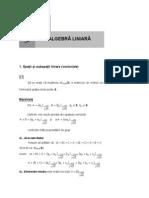 01. Algebra Liniara