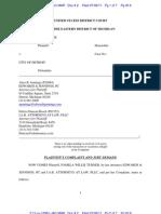 2011-07-08.Pamela Turner v City of Detroit - Lawsuit